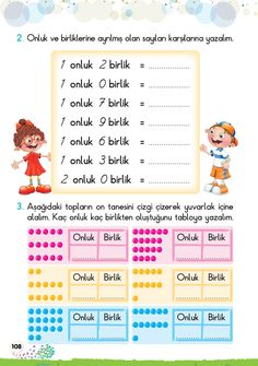 1. Sınıf Konu Anlatım GÜNLÜK EV ÇALIŞMALARI Math Sheets, Grade 1, Special Education, Periodic Table, Preschool, Learning, Youtube, Books, Kids