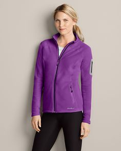 Cloud Layer® Pro Full-zip Fleece Jacket | Eddie Bauer in Sugar Plum