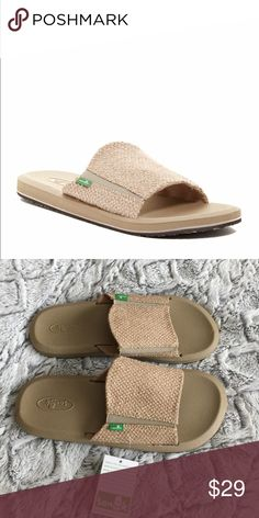 Mens Slides by Sanuk Comfy yoga mat bottoms make these slides your new favorite pair! Sanuk Shoes Sandals & Flip-Flops