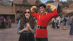And Gaston videobombed this woman wearing sunglasses.   25 Times Disney Face Characters Were Completely Adorable