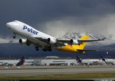 Polar Air Cargo 747-46NF/SCD   lifts off from Ted Stevens Intl.  Alaska, Photographer Ben Wang