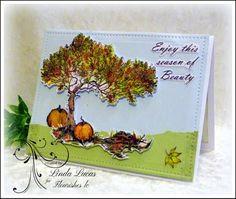 Lovely Linda's Craft Central!!: Flourishes September New Release - Day 6 @flourishesllc  #flourisheslc @imaginecrafts @SBAdhesivesby3L  #paperart #diy #handmade #paperart #card #craft #embossing #falltree #laurenpope #embossing #sponging #diecutting #septembernewrelease #newrelease #lovelylinda @lovlinda  #lindalucas #linda
