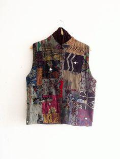 Gypsy Patchwork Vest by KheGreen on Etsy