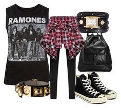 Grunge by crayonroad on Polyvore featuring polyvore fashion style Converse rag & bone La Mer Reed Krakoff clothing