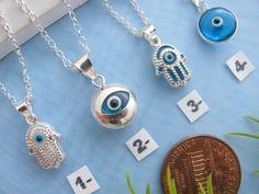 Eye Evil sterling silver Celebrities Jewelry Evil Eye by MonyArt, $21.80