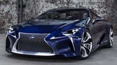 Lexus LF-LC Blue Concept - Looks even better in blue!  Too bad we will never see it in production.