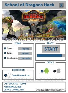 School of Dragons Hack for Gems, Coins & Membership - http://appgamecheats.com/school-dragons-hack-gems-coins-membership/