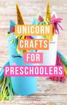 Unicorn Crafts For Kids - Meraki Mother - This easy crafts is the ultimate arts and crafts idea for any unicorn-obsessed kids! Perfect for a - Easy Preschool Crafts, Easy Crafts For Kids, Easy Diy Crafts, Diy For Kids, Fun Crafts, Children Crafts, Party Crafts, 3 Kids, Craft Projects For Kids