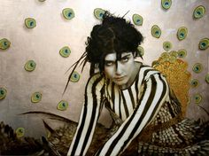 the paintings and artwork of brad kunkle. gold leaf artist and painter brad kunkle. Fine Art, Artist Inspiration, Silver Leaf Painting, Figure Painting, Painting, Daily Art, Art, Painted Leaves, Birds Of Paradise