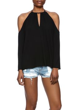 Long sleeve, off the shoulder blouse with a keyhole in the front.   Cold Shoulder Blouse by re:named. Clothing - Tops - Long Sleeve Clothing - Tops - Blouses & Shirts New Orleans, Louisiana
