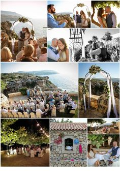 Completely private venue with unbeatable views .Link in description. Crete, Real Weddings, Wedding Planner, Wedding Venues, Photo Wall, Link, Image, Wedding Planer, Wedding Reception Venues