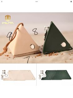 leather triangular pouch
