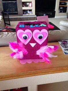 Owl Valentines Day Box For Girl Valentines Pinterest Owl Box