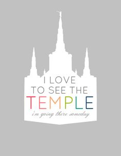 Free Primary Printables, I am A Child of God, I Love to see the Temple