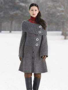 If i am ever to conquer the world of knitting sweaters, this may be one of my firsts. Ravelry: Moscow Coat pattern by Vladimira Cmorej