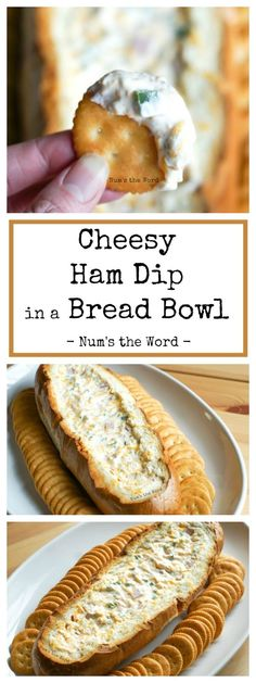 This Cheesy Ham Dip in a Bread Bowl is one that party guests go crazy for! A great way to use up leftover ham, this hearty dip is easy to make and packed with flavor. Make it in a bread bowl or casserole dish and serve with your favorite crackers! Recipes Using Ham, Dip Recipes, Low Carb Recipes, Snack Recipes, Keto Snacks, Pork Recipes, Recipies, Best Appetizer Recipes, Appetizer Dips