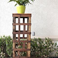 Check out this project on RYOBI Nation - I love the potted flowers and plants that come with the arrival of spring, but finding a way to display them is another story.  Inspired by traditional garden lattice, this trellis column design is my answer to that problem.  It's one part eye-candy accent piece, and one part functional storage/display.  I plan to build two more at varying heights, in order to create a grouping of 3 for my patio...  I spent about $23.00 for lumber on this project…