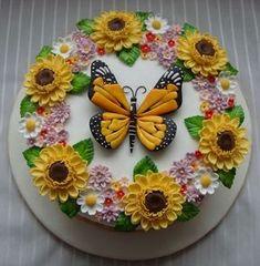 17 Ideas cupcakes decoration ideas holidays for 2019 Gorgeous Cakes, Pretty Cakes, Cute Cakes, Amazing Cakes, Spring Cupcakes, Spring Cake, Cake Wrecks, Super Torte, Sunflower Cakes