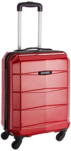 #10: Safari Re-Gloss Polycarbonate 55 cms Red Carry-Ons (NEW-Re-Gloss-55-Red-4WH)