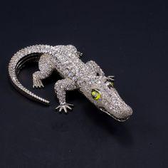 f0e7b6396 Peridot Eyed Crocodile Paperweight Collectible Featuring Swarovski © C – Isabella  Adams Designs