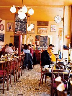 Chez Janou, Paris    Photograph by John Kernick    Just north of the Place des Vosges, sunny Chez Janou brings a taste of Provence to Paris.  this makes me so happy inside.