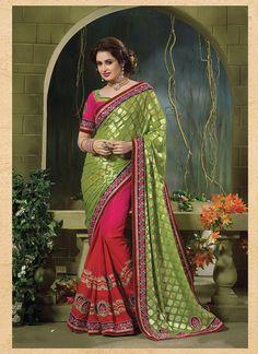 Exquisite Jacquard Multi Colour Designer Saree