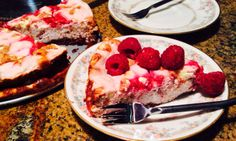 Food Fitness by Paige: White Chocolate Raspberry Cheesecake with Brownie ...