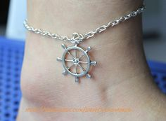 silvery rudder anklets beautiful anklets chain anklets women or men anklets -N555. $3.59, via Etsy.