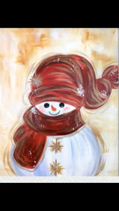 18 Easy Christmas Canvas Painting Ideas for Kids Christmas Paintings On Canvas, Christmas Canvas, Christmas Art, Winter Painting, Painting For Kids, Paint And Drink, Wine And Canvas, Snowman Crafts, Paint Party