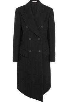 Christopher Kane Asymmetric wool-felt coat    NET-A-PORTER