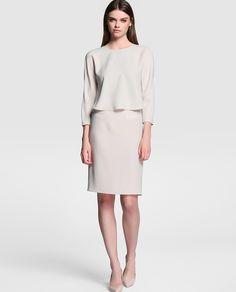 Vestido de mujer Armani Collezioni con efecto dos piezas
