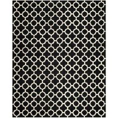 Safavieh Cambridge Black/Ivory 8 ft. x 10 ft. Area Rug-CAM130E-8 at The Home Depot