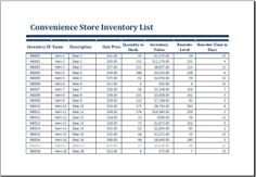 Convenience store inventory worksheet DOWNLOAD at http://www.doxhub.org/worksheet-templates/