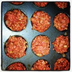 Muffin Tin Mini Meatloaf (healthy meals for dinner muffin tins)