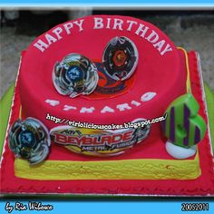 Beyblade Cake These cake tins are for all occasions from weddings, to Christmas, Anniversaries, Birhtdays, Valentines day etc.