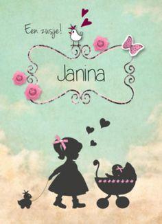 Geboortekaartje silhouette zusje #geboortekaart #geboortekaartje #geboortekaartjes #geboortekaarten #meisje #dochter #dochtertje #zusje #babygirl #silhouette #silhouet #kinderwagen #vintage #retro