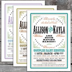 Baby Shower Invitations : Inspiring Chic Baby Shower Invitations Design - Western Chic Joint Couples Baby Shower Design