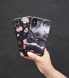 Blackout Dark Rose & Black Marble for iPhone X, iPhone 8 Plus / 7 Plus & iPhone 8 / 7 from Elemental Cases #darkrose #blackmarble #iPhoneX #iphone8plus #iphone8 #iphone7plus #iphone7 #iphone7pluscase