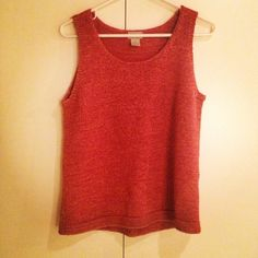 Salmon color tank top I got from Goodwill on Beverly and Fairfax, only 3.39.