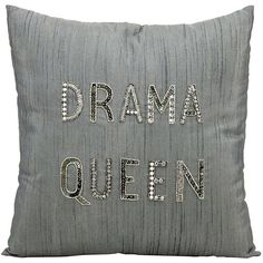 Mina Victory Luminescence ''Drama Queen'' Beaded Throw Pillow (£46) ❤ liked on Polyvore featuring home, home decor, throw pillows, pillows, decor, silver, grey accent pillows, beaded accent pillows, patterned throw pillows and grey home decor