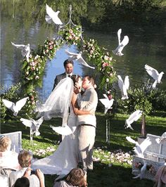#dove release, wedding tradition ... Wedding ideas for brides & bridesmaids, grooms & groomsmen, parents & planners ... https://itunes.apple.com/us/app/the-gold-wedding-planner/id498112599?ls=1=8 … plus how to organise an entire wedding, without overspending ♥ The Gold Wedding Planner iPhone App ♥