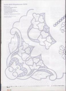Lene Richelieu e Bainha Aberta: Riscos de richelieu{net} Cutwork Embroidery, White Embroidery, Cross Stitch Embroidery, Embroidery Patterns, Point Lace, Cut Work, Couture, Needlework, Stencils