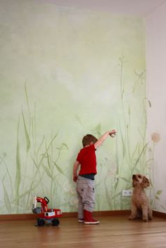 Bedroom Murals, Wall Murals, Mural Painting, House Painting, House Lamp, Cosy Room, Arte Floral, Love Home, Wall Treatments