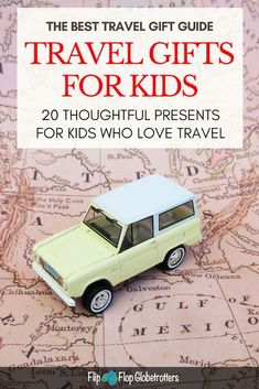 Check out this list with the best travel toys for kids. Great gift ideas for traveling children and travel inspired presents for kids that love to travel. Surprise your kids with original and fun gifts from this list with the 20 best travel gifts for kids Diy Gifts For Kids, Presents For Kids, Fun Gifts, Christmas Presents, Camping With Kids, Travel With Kids, Family Travel, Family Trips, Family Vacations