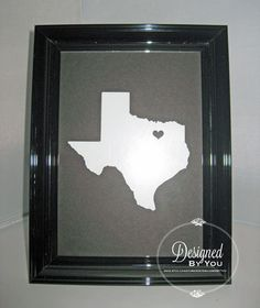 Puffy Heart State Silhouette Decal  All States by DBYDesignedByYou, $5.00