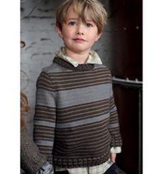 Modèle pull garçon à rayures - Modèles tricot enfant - Phildar