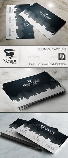 Business Card 43 #GraphicRiver A unique and informative business card design. Suitable for both corporate or creative businesses. The design element resembling cloth or silk, scrolling across the card, makes the card suitable for fashion designers, boutique employees/owners or simply anyone involved in textile, cloth or silk associated industry. Two fully editable and neatly layered PSD files. Print ready: 3.5×2 inch / 0.25 bleed / CMYK / 300dpi. Font used: Open Sans Vortex Design. Impress…