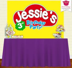 Play Dough Backdrop | Party Banner | Poster | Signage | Personalised | Printable Backdrop | Birthday Backdrop by ArtfulMonkeys on Etsy