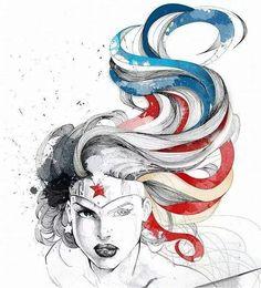 Superheros: Superman, Batman and Wonder Woman for DC Comics Warner Bros. Wonder Woman Art, Wonder Woman Kunst, Wonder Woman Movie, Wonder Women, Character Drawing, Comic Character, Comic Books Art, Comic Art, Univers Dc