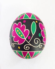 Items similar to Easter Egg, Real Duck Egg Pysanky, Easter Gift, Polish Pysanka on Etsy Easter Egg Crafts, Easter Gift, Easter Projects, Easter Decor, Easter Ideas, Old Symbols, Easter Egg Designs, Ukrainian Easter Eggs